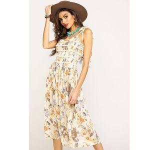 NWT Free People Isla Floral Midi Dress